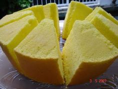 Pandan Chiffon Cake, Pandan Cake, Baking Recipes, Cake Recipes, Dessert Recipes, Durian Recipe, Durian Cake, Cotton Cake, Plain Cake