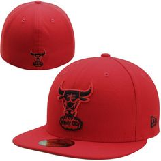 93263e37f27 Chicago Bulls New Era Official Team Color Low Profile 59FIFTY Fitted ...