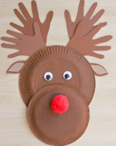 Rudolph the Red-Nosed Reindeer Paper Plate Craft Project