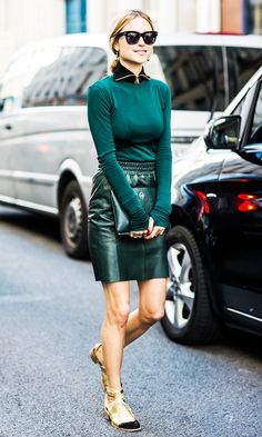 How to Wear Green and Still Look Cool on St. Patrick's Day via @WhoWhatWear