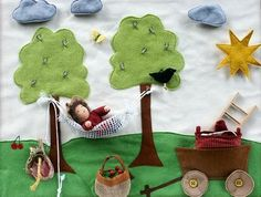 Felt book inspiration - I love the hammock and clothes line ideas!