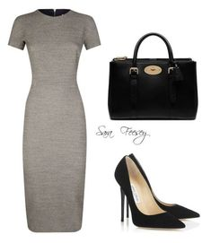 """""""Untitled #168"""" by sara-elizabeth-feesey on Polyvore featuring Victoria Beckham, Jimmy Choo and Mulberry"""