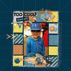 Template: Trifecta 05 - Easy Peasy Please by Brook Magee  Kit: Out of this World by Meagan's Creations