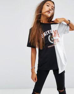 Imagen 1 de Camiseta con estampado Cut About Varsity de ASOS