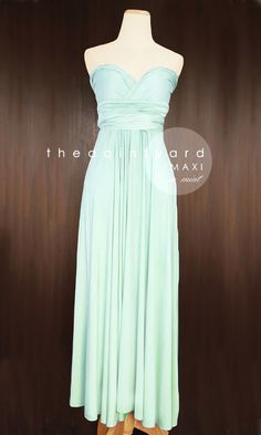 MAXI+Mint+Bridesmaid+Convertible+Infinity+Multiway+by+thedaintyard,+$48.00