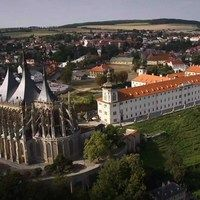 Kutná Hora, amazing medieval town from the air