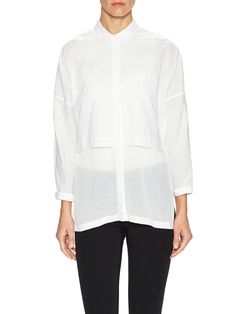 Cotton Layered Collared Shirt from Helmut Lang on Gilt