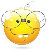 faccina sorridente : Smiley illustrazione vettoriale - Book Worm Viso Vettoriali