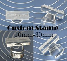 Customized Stamp Custom Made Soap Stamp Organic Glass Stamp Acrylic Stamp 10mm-30mm