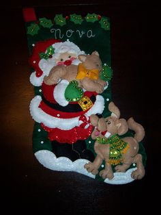 It's true that MerryStockings carries the full line of Bucilla felt Christmas stocking kits. Family Christmas Stockings, Christmas Stocking Kits, Stocking Tree, Xmas Stockings, Christmas Ornaments To Make, Christmas Sewing, Homemade Christmas, Christmas Projects, Holiday Crafts