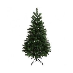 Christmas Pine Tree Unlit Artificial 6 Feet 550 Tips Metal Stand Home Decoration