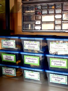 Did this in my large storage cabinets with ALL of my crafting supplies!!! It's all so neat, organized, and easy to use now!! And I did it BEFORE I saw this post!! HA. Go. Me. =-D
