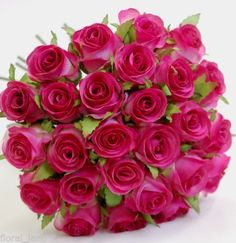 SILK-ROSES-WEDDING-BOUQUET-HOT-PINK-PRE-MADE-ROSE-FLOWERS-ARTIFICIAL-FLOWER-POSY