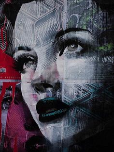 Illusion: Graffitist Rone is recognized for making stylized portraits of beautiful women, and also for being the artist with the most posters pasted on the streets of Melbourne, Australia. (Image © Rone) http://illusion.scene360.com/art/30495/indoor-and-outdoor-mixed-media-art/