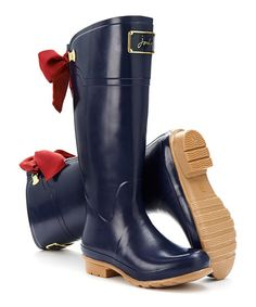 This French Navy Evedon Welly Rain Boot - Women is perfect! #zulilyfinds