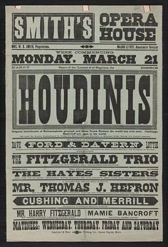 Return of the greatest of all magicians, the Houdinis, Harry, Bessie  original introducers of metamorphosis, greatest and finest trunk mystery the world has ever seen, challenge hand-cuff act, open to the world ....