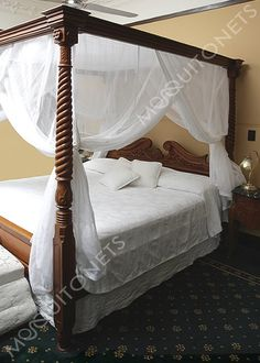 Mosquito Net | Queen Size | Box Shape | Queen Bed net and Canopy Silk Bedding, Grey Bedding, Luxury Bedding, Bedding Sets, Modern Bedding, Modern Bedroom, Comforter, Four Poster Bed Frame, Poster Beds