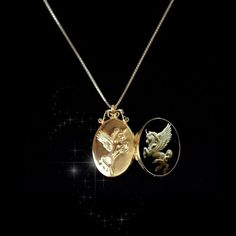 Sterling-Silver925-Slim-Photo-Locket-Pendant-Lord-of-the-Unicorn-GP-Necklace