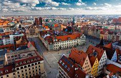 Panorámica de Wroclaw, Polonia.