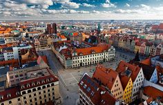 Panorámica de Wroclaw, Polonia.