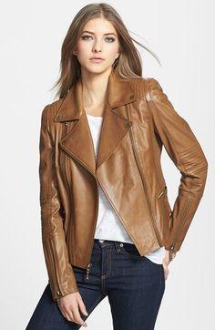 BCBGMAXAZRIA 'Tara' Leather Moto Jacket available at #Nordstrom