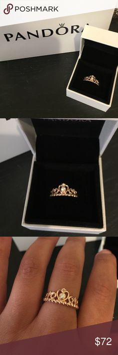Pandora My Princess Tiara Rose Gold New never used comes with box. Any questions pls ask.  Only have 2 size 7 Pandora Jewelry Rings
