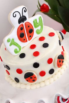 Ladybug Cake... awwww :)