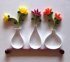 Quilled vases