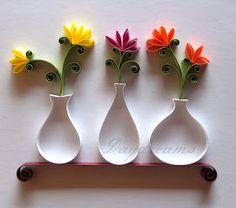 Quilled vases