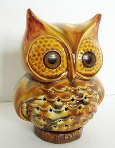 Vintage Ceramic Owl Decor - Used to be a Night Light