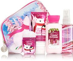 Twisted Peppermint Merry On-the-Go Gift Set - Signature Collection - Bath & Body Works