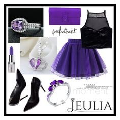 """Purple Perfectionist"" by amra-sarajlic ❤ liked on Polyvore featuring Chicwish, H&M, Gucci, Shany, vintage and jeulia"