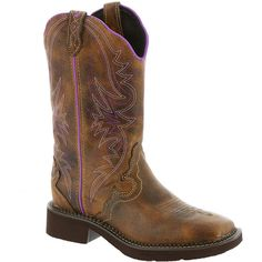 Justin Boots Gypsy Collection L2918 Women's Tan Boot 7 B ($110) ❤ liked on Polyvore featuring shoes, boots, mid-calf boots, tan, cowgirl boots, cowboy boots, cowboy style boots and tan mid calf boots