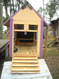 Cute idea to recycle an old dresser into a small coop-and a good blog re raising chickens.