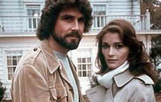 """THE AMITYVILLE HORROR (1979)  Cop: """"Jesus Christ, it gets worse all the time.""""   Following the (mis) fortunes of newly-weds James Brolin and Margot Kidder when they move into a rambling clapboard pile on the shores of a lake. Barely has she been carried over the threshold, than Margot's recoiling from banging doors and inexplicably freezing rooms. Rod Steiger plays the sympathetic priest, but it's the house itself - a glowering gothic pile - that is the real star of the show."""