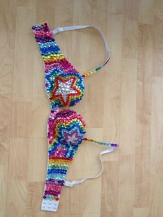Rainbow Star Rave Bra  by LastFridayNight on Etsy, $50.00