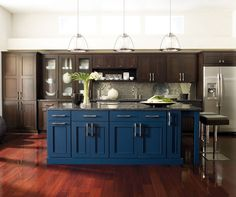 Colored Island Cabinet Inspiration Gallery - Custom Cabinetry - OmegaCabinetry.com