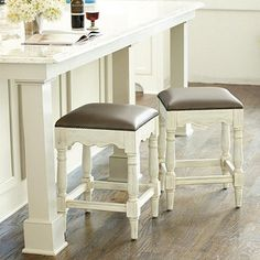 Backless Seagrass Barstools Client Marla Kitchen