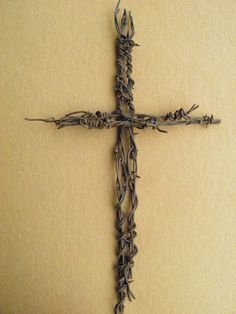 Old Rugged Cross Rusty Barbed Wire Christian Religious Symbol Rustic Home Decor | eBay