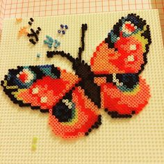 Butterfly hama beads by Risus