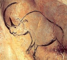 -- Chauvet Cave Paintings -- UNESCO World Heritage Site -- Rhinocerus -- BCE. Fourteen different animal species are depicted in the Chauvet Cave. Chauvet Cave, Lascaux Cave Paintings, Paleolithic Art, Rhino Art, Cave Drawings, Art Ancien, Ancient Artifacts, Rock Art, Art Blog