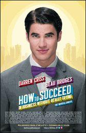 How To Succeed Broadway Poster (Darren Criss)