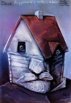 A Story About Sorrow and Joy Przypowiesc o smutku i radosci Eidrigevicius Stasys Polish Poster Art And Illustration, Illustrations And Posters, Kunst Poster, Poster Art, Pop Art, Polish Posters, Cinema Posters, Beautiful Posters, Art Design