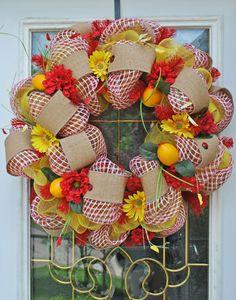 Deco Mesh Picnic Wreath Picnic Party by TrendyWreathBoutique, $79.99
