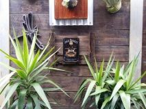"""Jack Daniels """" Drop by drop """" tin sign bolted to rustic recycled timber frame which measures 45cm x 55cm approx........great for indoors or outside living areas."""