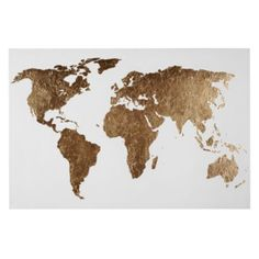 World of Gold this one is $499 at zgallerie but i wonder if you could do a DIY version w/ gold leaf and tracing around an atlas of the world? or even gold sharpie/spraypaint for a cheaper version!?!?