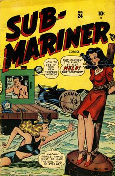 Sub-Mariner Comics #24, Winter 1947-1948, cover by Ken Bald and Syd Shores