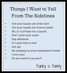 What I'd Like To Yell From The Sidelines - Funny Is Family