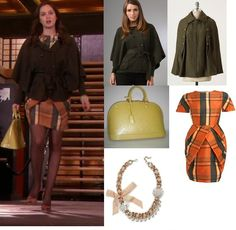 Gossip Girl: Blair Waldorf in Barneys New York tratan dress, Diane von Furstenberg cape coat