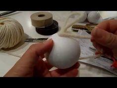 Tutorial: palline di Natale fai da te, veloci e facili da realizzare. - YouTube